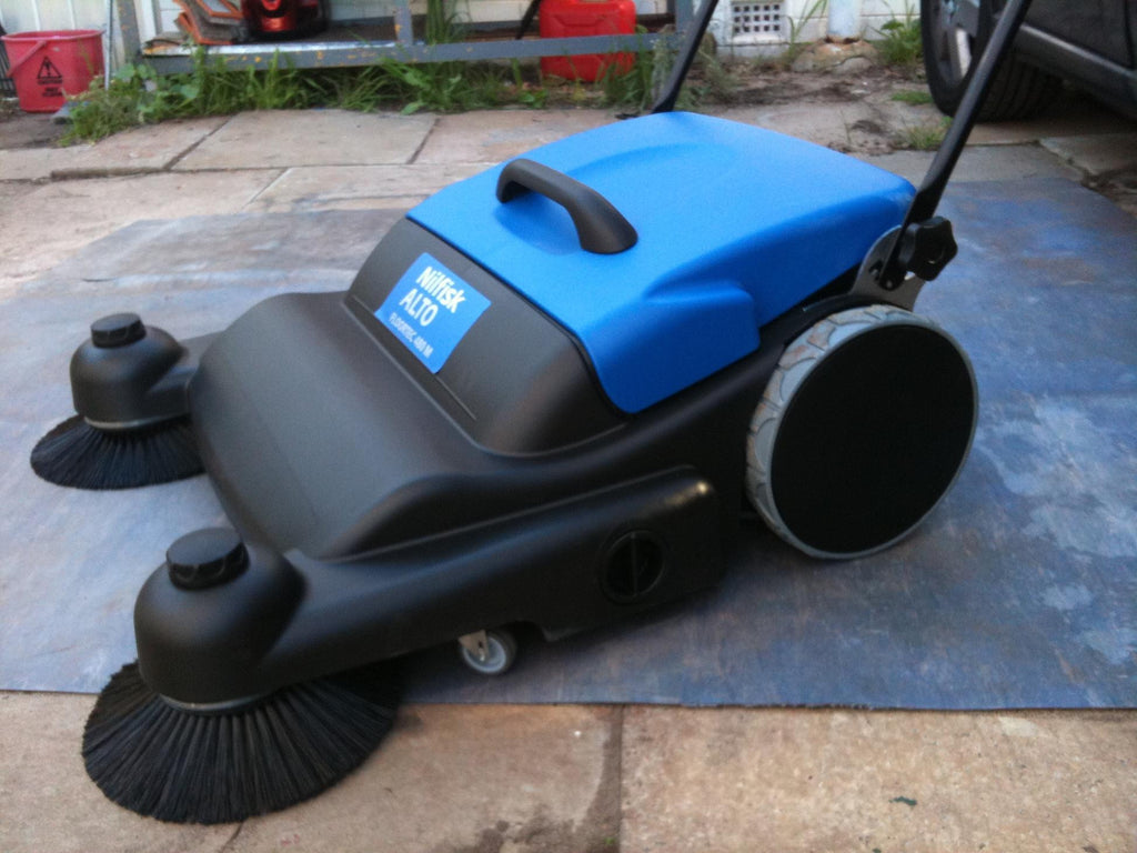 Nilfisk-Alto Floortec 480M Walk Behind Push Sweeper SEE SM800 - TVD The Vacuum Doctor