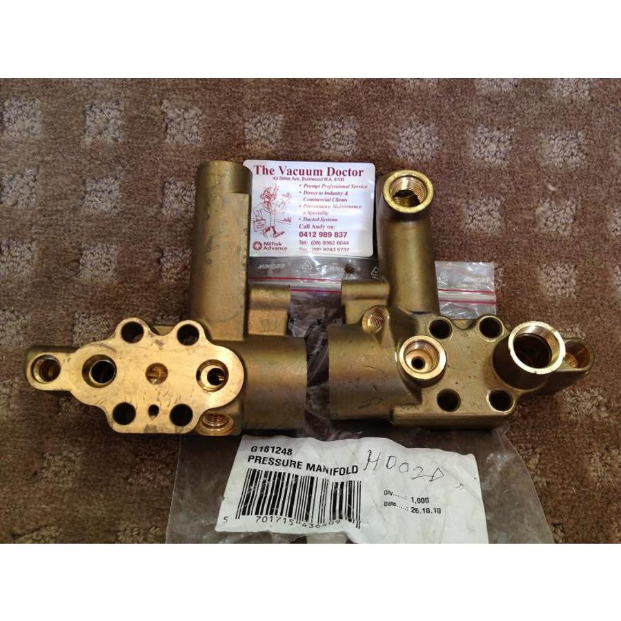 Gerni Brass Pump Manifold For 4100A and 4500A Hot Water Pressure Washer - TVD The Vacuum Doctor