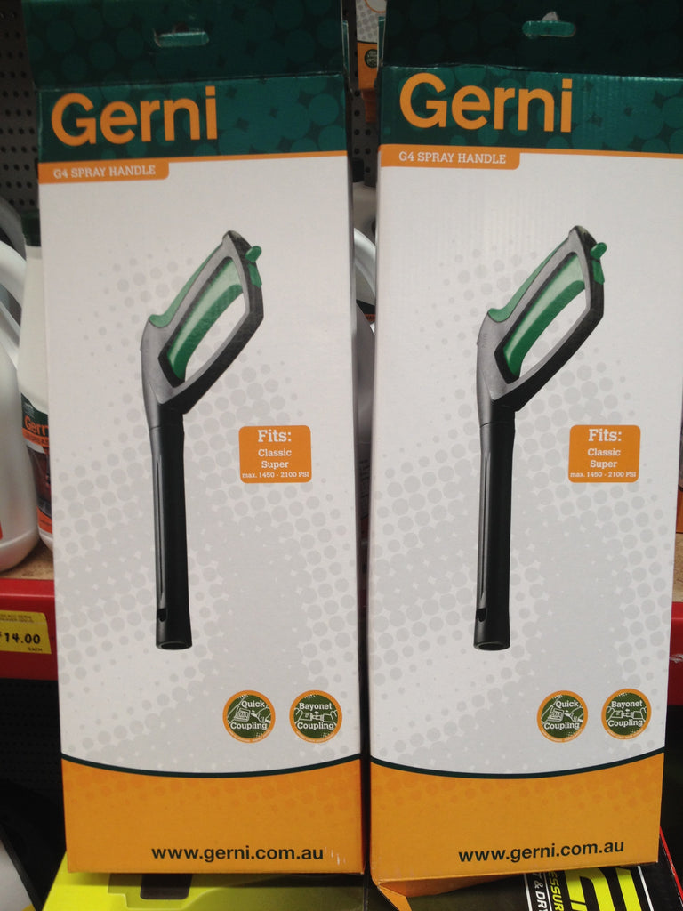 Gerni Classic Domestic Pressure Washers G4 Spray Handle Pistol Grip NLA - TVD The Vacuum Doctor