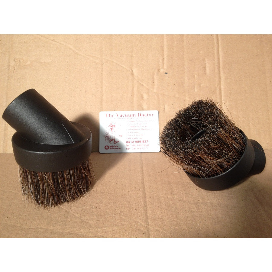 Round Dusting Brush With Horsehair For Vacuum Cleaner To Fit 32mm Tubes - TVD The Vacuum Doctor