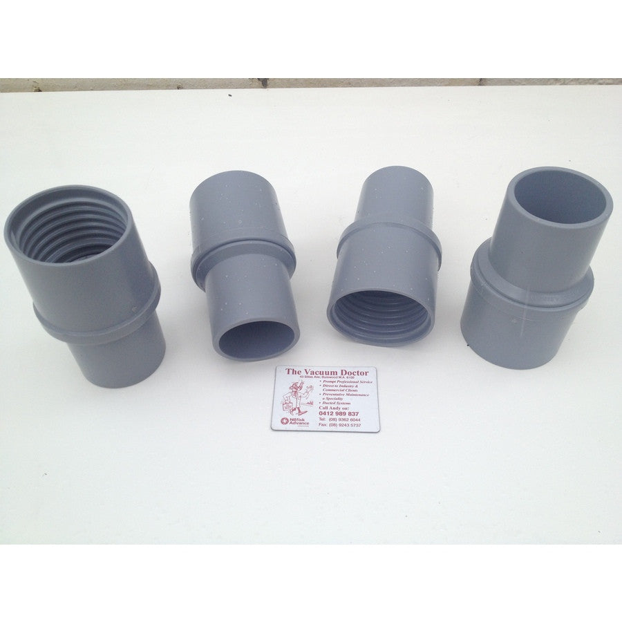 50mm Grey Swivel PVC Hose Cuff For 50mm Plastic Hose For Commercial Vacuums - TVD The Vacuum Doctor
