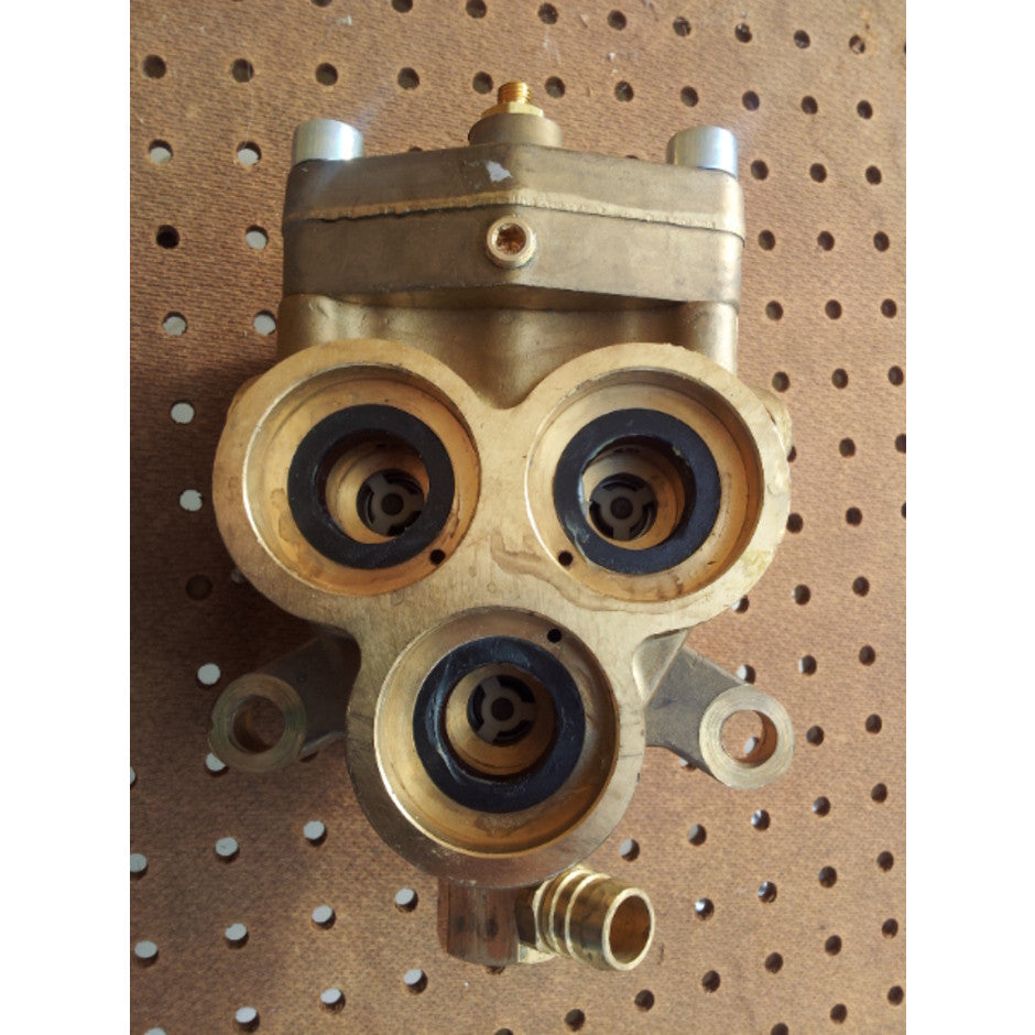 Gerni 660A Cold Water Pressure Washer Brass Pump Cylinder Head Complete - TVD The Vacuum Doctor