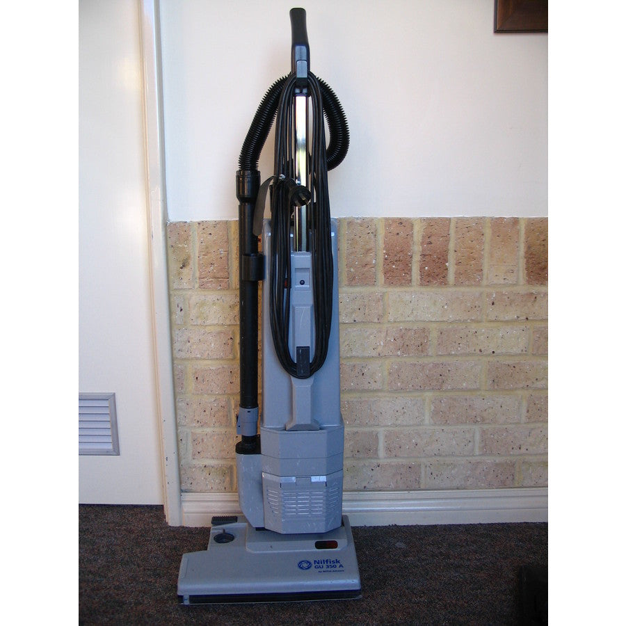 Nilfisk GU350A Upright Vacuum Cleaner No Longer Available Replaced By 12 inch VU500 - TVD The Vacuum Doctor