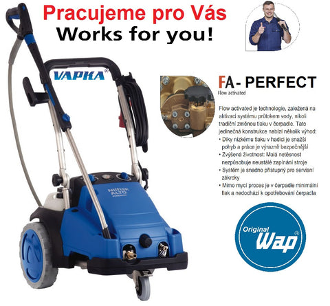Gerni MC 7P 195/1280 FA Three Phase Electric Cold Water Pressure Washer - TVD The Vacuum Doctor