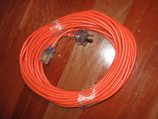 Nilfisk and Tellus 15m 3 Core IEC Earthed Orange Cord With Clear Moulded Ends - TVD The Vacuum Doctor