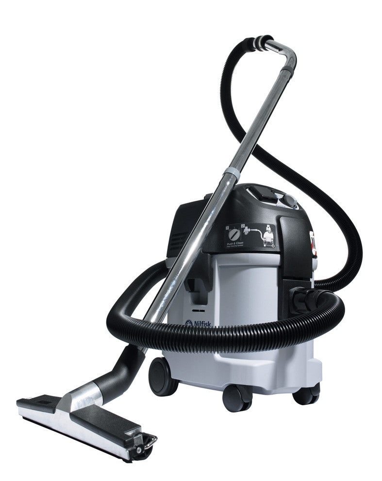 Nilfisk IVB3 M Wet and Dry Industrial Vacuum Cleaner Replaced By Attix 33 Infiniclean - TVD The Vacuum Doctor