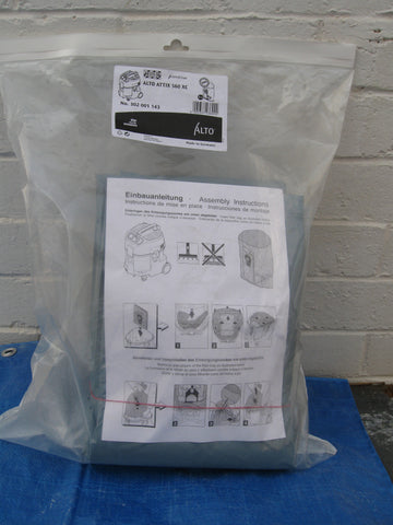 Nilfisk IVB5H and Nilfisk-Alto Attix 560-2H XC Safety Dustbags For Asbestos Pack of 5 - TVD The Vacuum Doctor