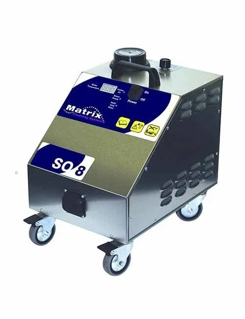 Matrix SO8 Commercial 8 Bar Steamer Without Vacuum For Cleaning And Disinfection - TVD The Vacuum Doctor