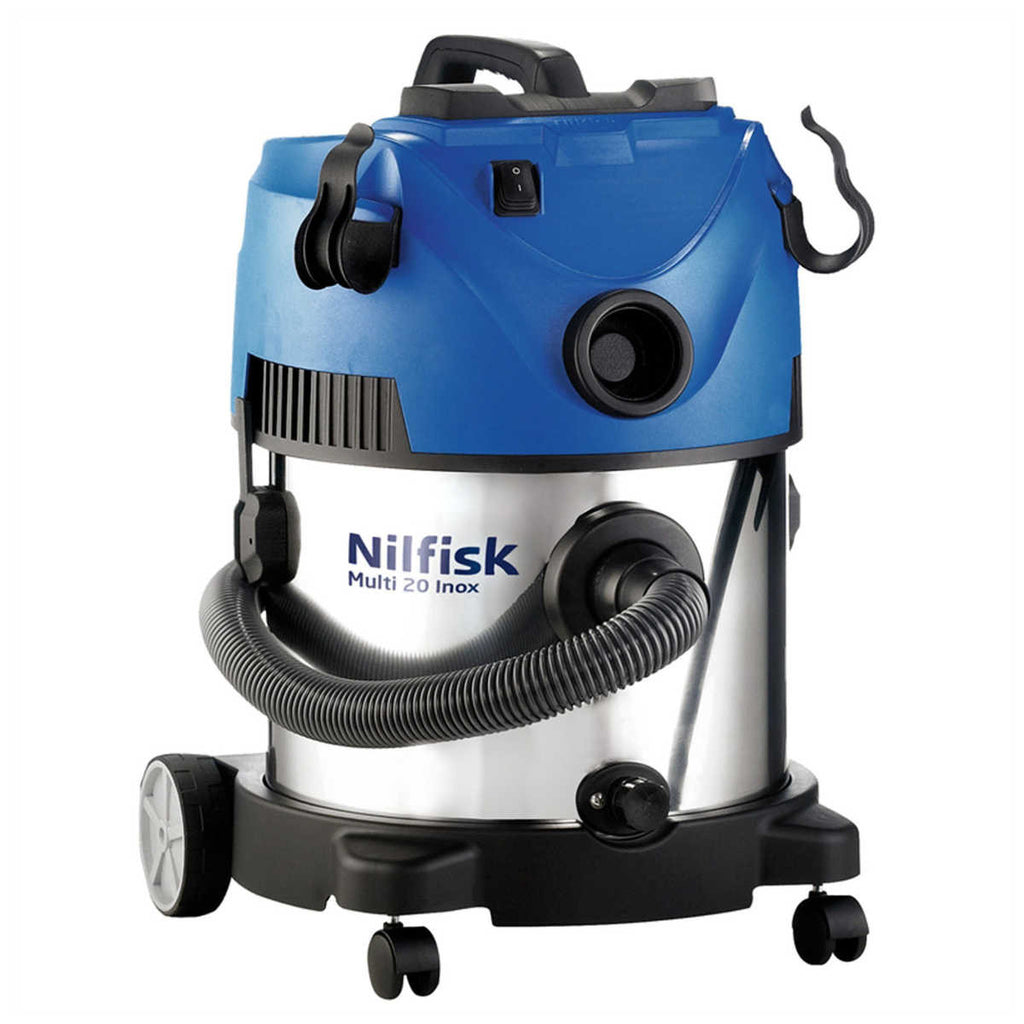 nilfisk multi 20 inox wet an dry vacuum cleaner for home and hobby use the vacuum doctor. Black Bedroom Furniture Sets. Home Design Ideas