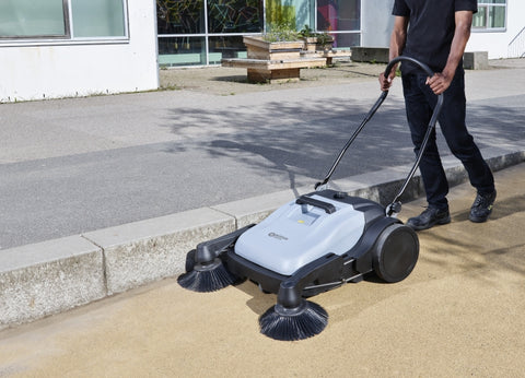 Nilfisk SW250 Walk Behind Push Floor Sweeper 920mm Sweep Path - TVD The Vacuum Doctor