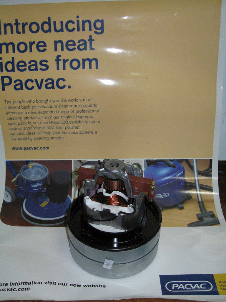 PACVAC Superpro Backpack Commercial Vacuum Cleaner Flow Thru Motor - TVD The Vacuum Doctor