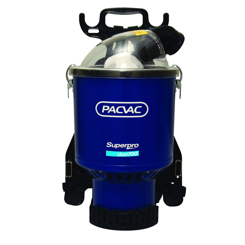 PACVAC Superpro 700 Duo BACKPACK Vacuum Cleaner For Where Spillage May Occur - TVD The Vacuum Doctor