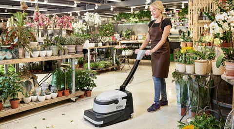 Nilfisk SC250 Battery Operated Sweep Scrubber For Cool Cafes And Artisan Bakeries! - TVD The Vacuum Doctor