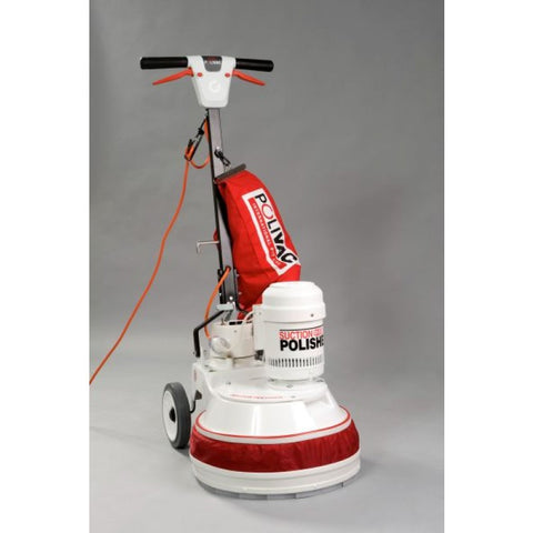 Polivac PV25 Electric Swing Floor Vacuum Polisher Complete With Skirt And Dustbag - TVD The Vacuum Doctor