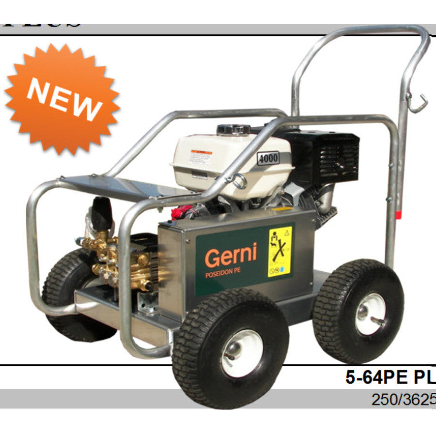 GERNI MC 5M 250/1050 PE Petrol Powered 3625PSI Cold Water Pressure Washer - TVD The Vacuum Doctor