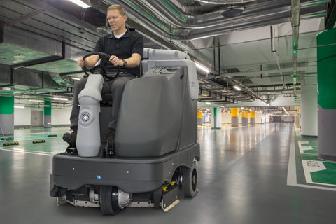 Nilfisk SC6500 1300D Rider Scrubber-Drier With Disc Brush Scrubbing Deck - TVD The Vacuum Doctor