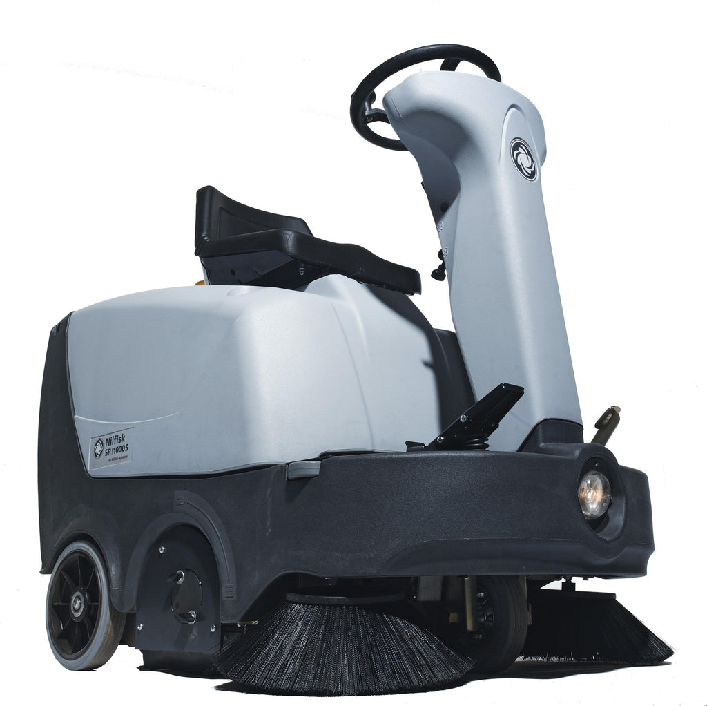 Nilfisk-Advance SR1000S Battery Powered Ride-on Sweeper FREE DELIVERY!! - TVD The Vacuum Doctor