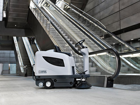 Nilfisk-Advance SR1101 Battery Powered Rider Sweeper With Dumping Hopper - TVD The Vacuum Doctor