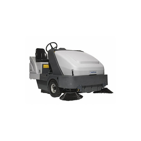 Nilfisk SR1601 G Maxi Kubota LPG Powered Rider Sweeper With Two Brooms - TVD The Vacuum Doctor
