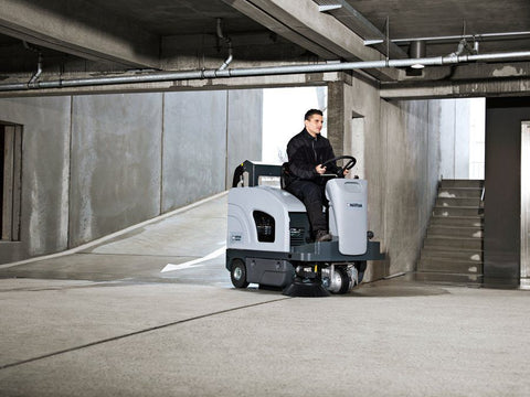 Nilfisk-Advance SW4000 LPG Powered Rider Sweeper With Hydraulic Dump Hopper - TVD The Vacuum Doctor