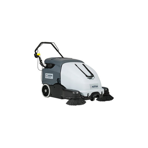 Nilfisk SW900 Walk Behind Battery Sweeper With On-board Charger - TVD The Vacuum Doctor