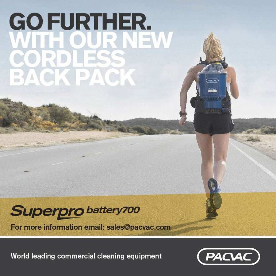 PACVAC Superpro Battery 700 Backpack Vacuum Cleaner See New Advanced Version
