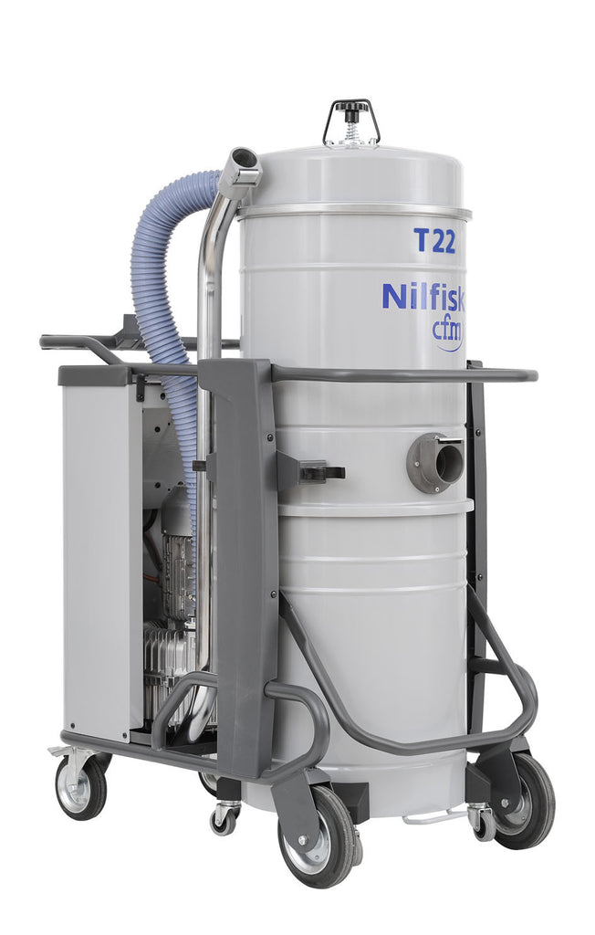 NilfiskCFM T 22 L 2.2  kWatt 3 Phase Industrial Vacuum Cleaner With 50mm Hose Kit - TVD The Vacuum Doctor