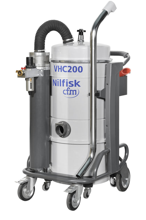 NilfiskCFM VHC200 Compressed Air Vacuum Cleaner For Use Where Electricity Is Unavailable - TVD The Vacuum Doctor
