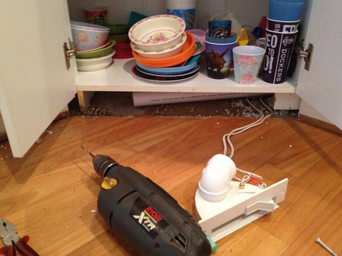 VacPan Ducted Vacuum Cleaner Sweep Inlet To Easy Clean Kitchen ...