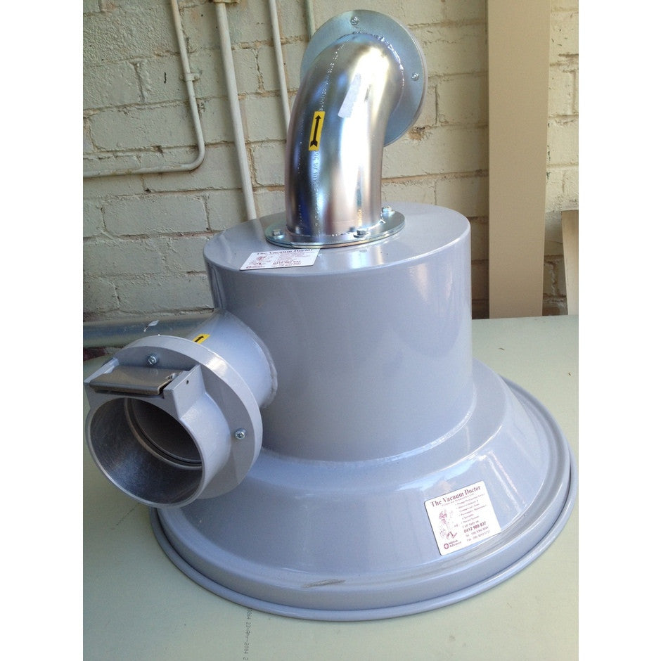 NilfiskCFM Cyclone Pre-separator 100mm Fittings 460mm Lid For Fine Dusts - TVD The Vacuum Doctor