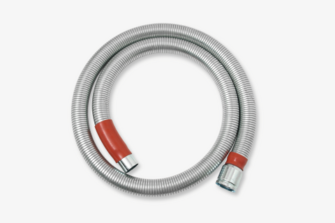 NilfiskCFM 40mm Steel Vacuum Cleaner Hose By Metre Length For Hot Work - TVD The Vacuum Doctor
