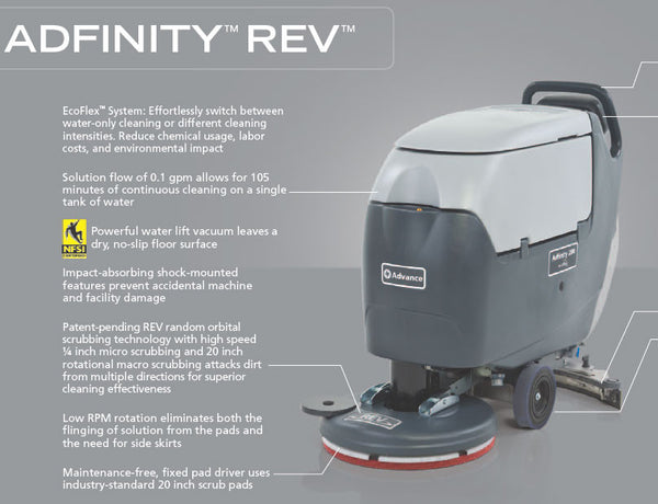 Nilfisk Advance Adfinity X20r Rev Battery Powered Auto