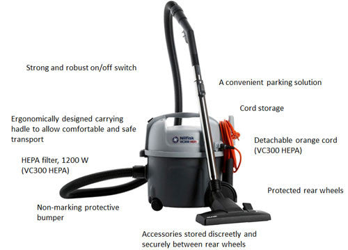Nilfisk Vp300 Hepa H13 Filtered Vacuum Cleaner Free