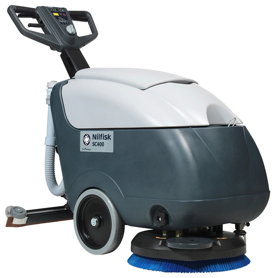 Nilfisk SC400E Electric Floor Scrubber Replaced By The Nilfisk SC401 E - TVD The Vacuum Doctor