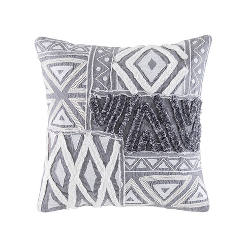 DELMAR GREY SQUARE CUSHION