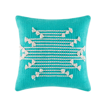 CHANNING TEAL SQUARE CUSHION