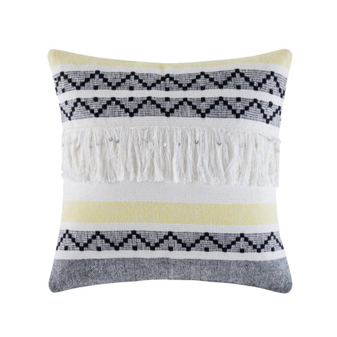 TATTIE YELLOW SQUARE CUSHION