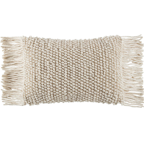 FRINGO NATURAL RECTANGLE CUSHION