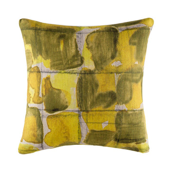 GRID CITRUS SQUARE CUSHION