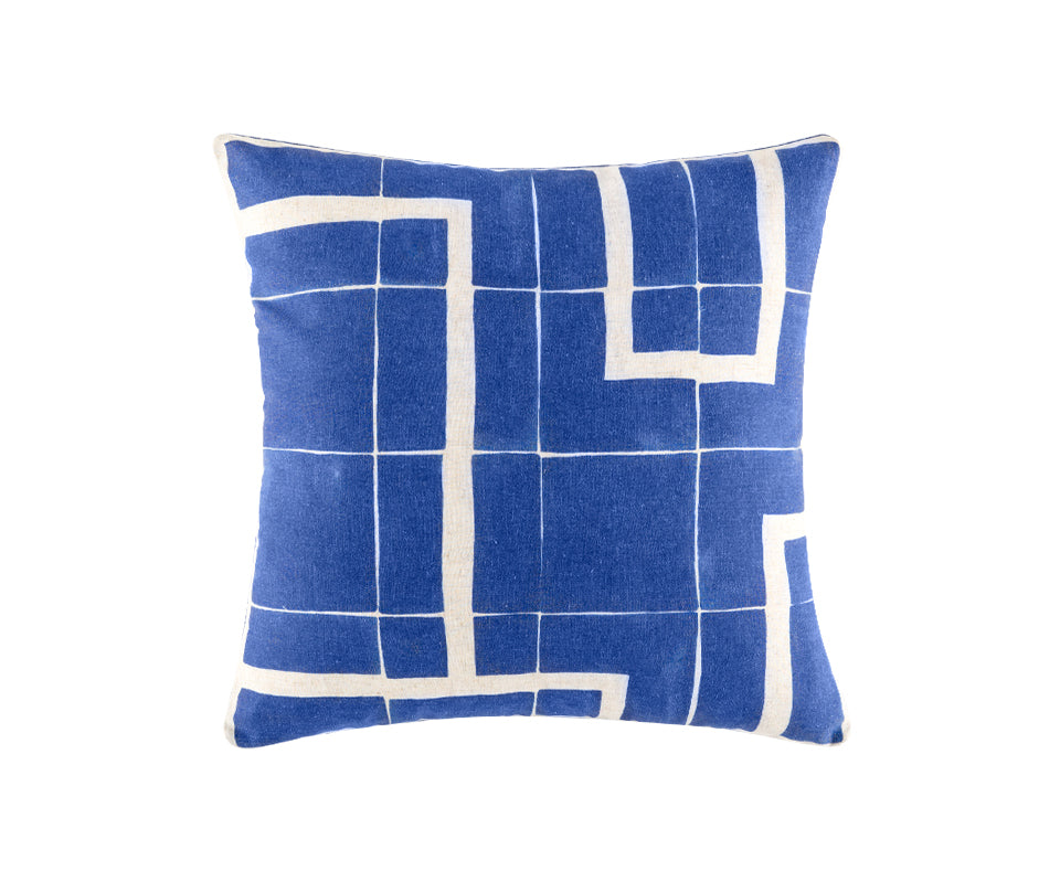 HARVAD BLUE SQUARE CUSHION