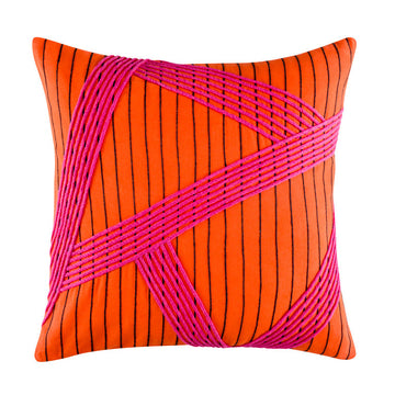 ESHA ORANGE SQUARE CUSHION