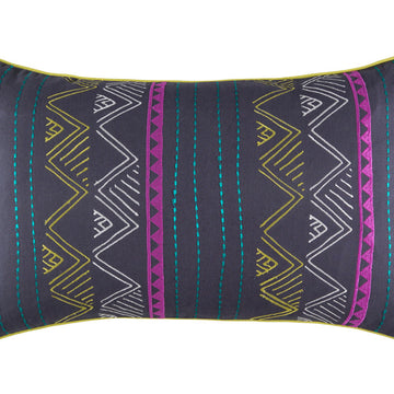 KAZI CHARCOAL RECTANGLE CUSHION