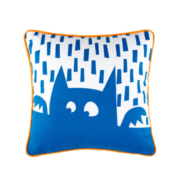HOWIE BLUE SQUARE CUSHION