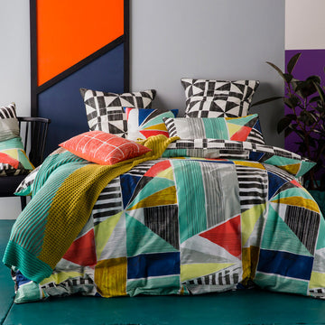 GEOMETRY QUILT COVER SET