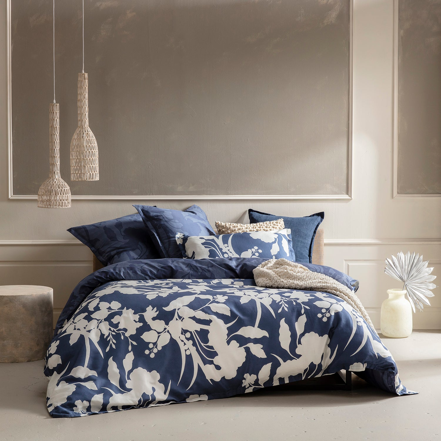 Blue and White Quilt Cover Set