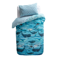 Whale Kids Quilt Cover Set