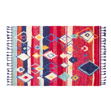 ALVAR RED RECTANGLE RUG