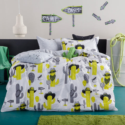 CACTUS COWBOYS QUILT COVER SET
