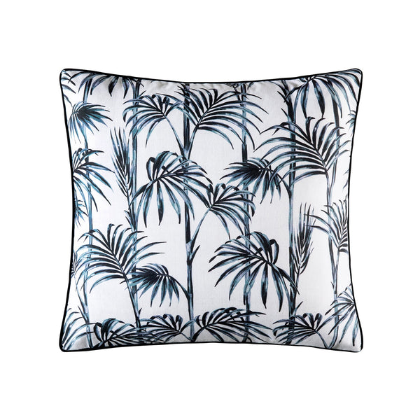 ELENA CHARCOAL OUTDOOR SQUARE CUSHION