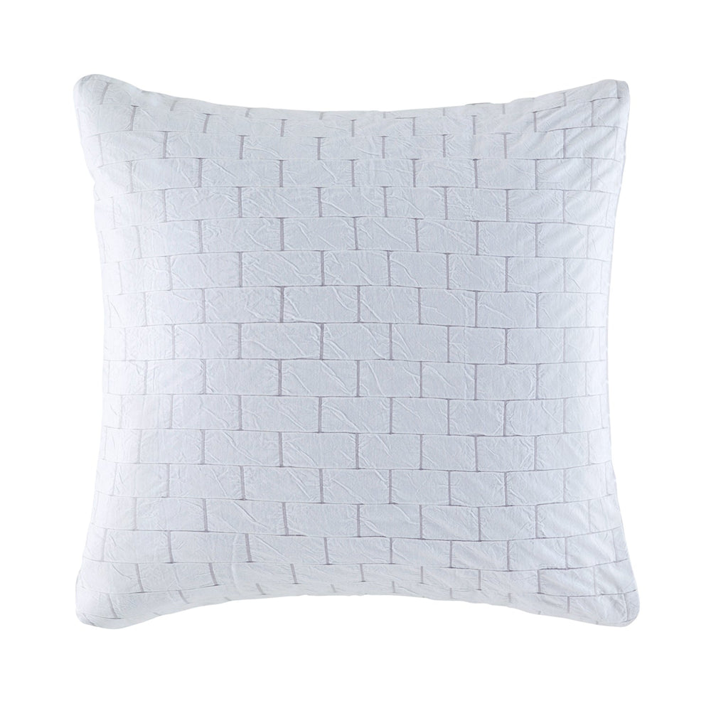 FLETCHER WHITE/GREY EUROPEAN PILLOWCASE